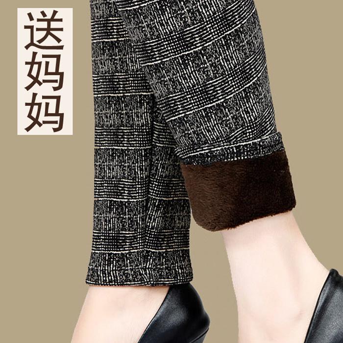 秋冬保暖裤加绒加厚中老年长裤奶奶妈妈打底裤女冬季外穿中年花裤