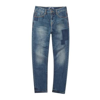 青春流行男式秋款修身小脚牛仔裤 男生基本五袋款牛仔长裤