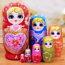特色俄罗斯7层套娃清仓正品另售10层卡通可爱儿童玩具哈尔滨纪念