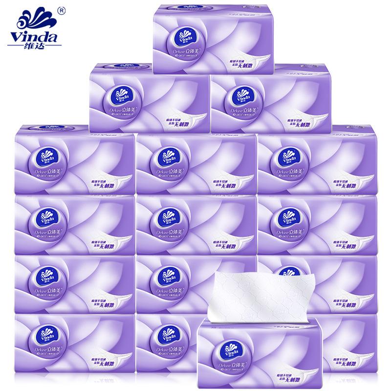 维达抽纸立体美3层108抽8包抽纸面巾纸卫生纸V2886A