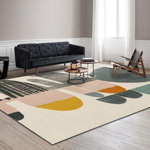 卧室客厅ins网红房间同款茶几毯