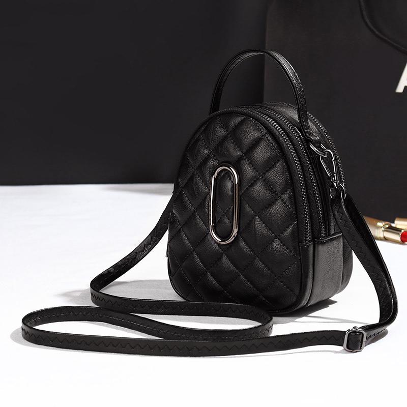 Bag 2021 Korean style one shoulder mobile phone bag womens Bag Messenger Bag Mini rhombic bag