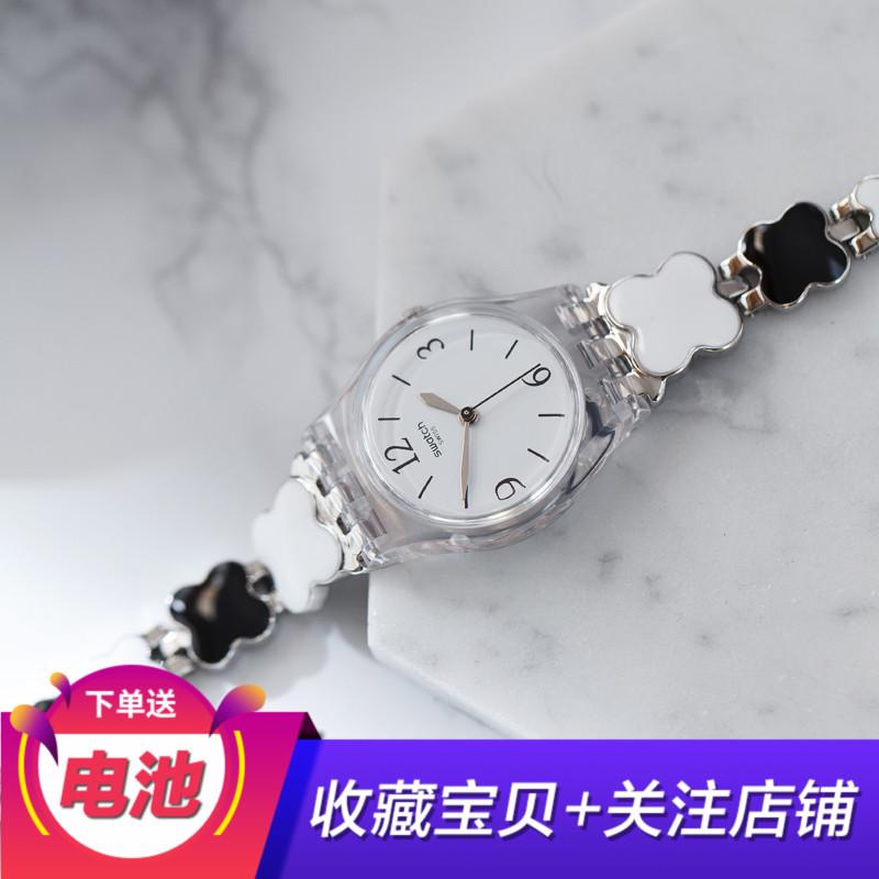 �9裾�品 斯沃琪Swatch2017手表清新手�淑女表LK367G四�~草