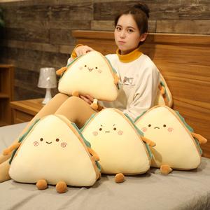 可爱三明治毛绒玩具仿真玩偶抱枕