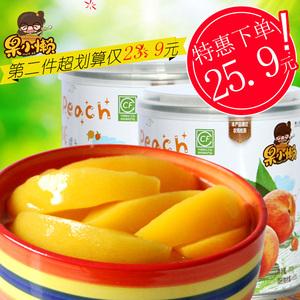 天同果小懒 零食水果罐头新鲜糖水6罐黄桃罐头金皇后品种整箱包邮  券后23.