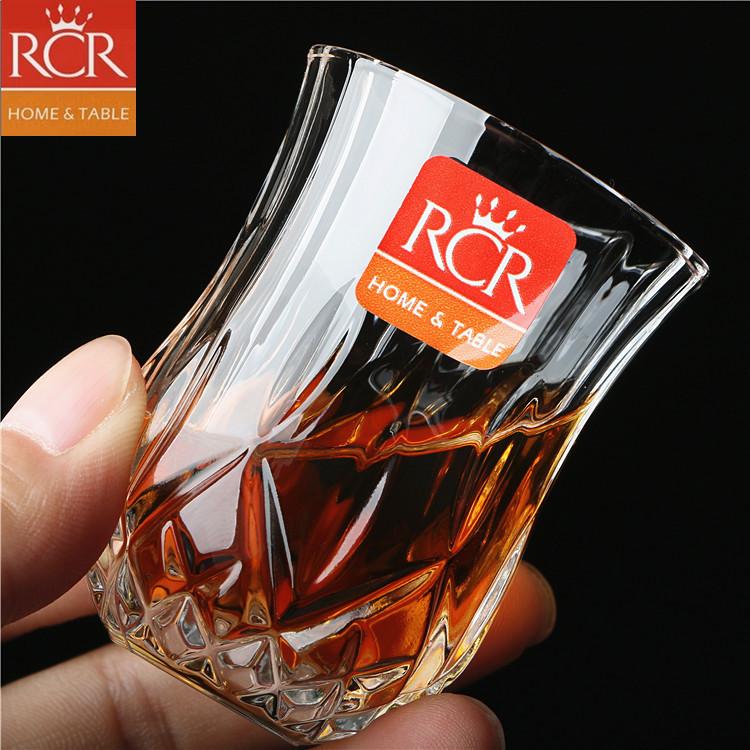 意大利RCR进口水晶玻璃烈酒杯子弹杯一口杯小白酒杯小酒杯
