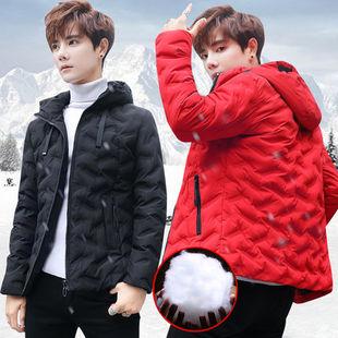 冬季青少年帅气修身轻薄保暖棉袄韩版潮学生男士羽绒服短款外套男