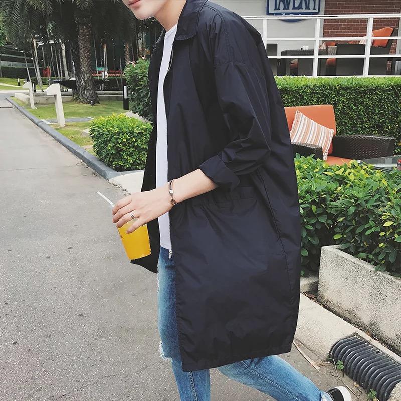 Пальто мужчина весна новые тенденции модель BF стиль спутник красивый свободный куртка корейский студент мужской в длинная модель ветровка