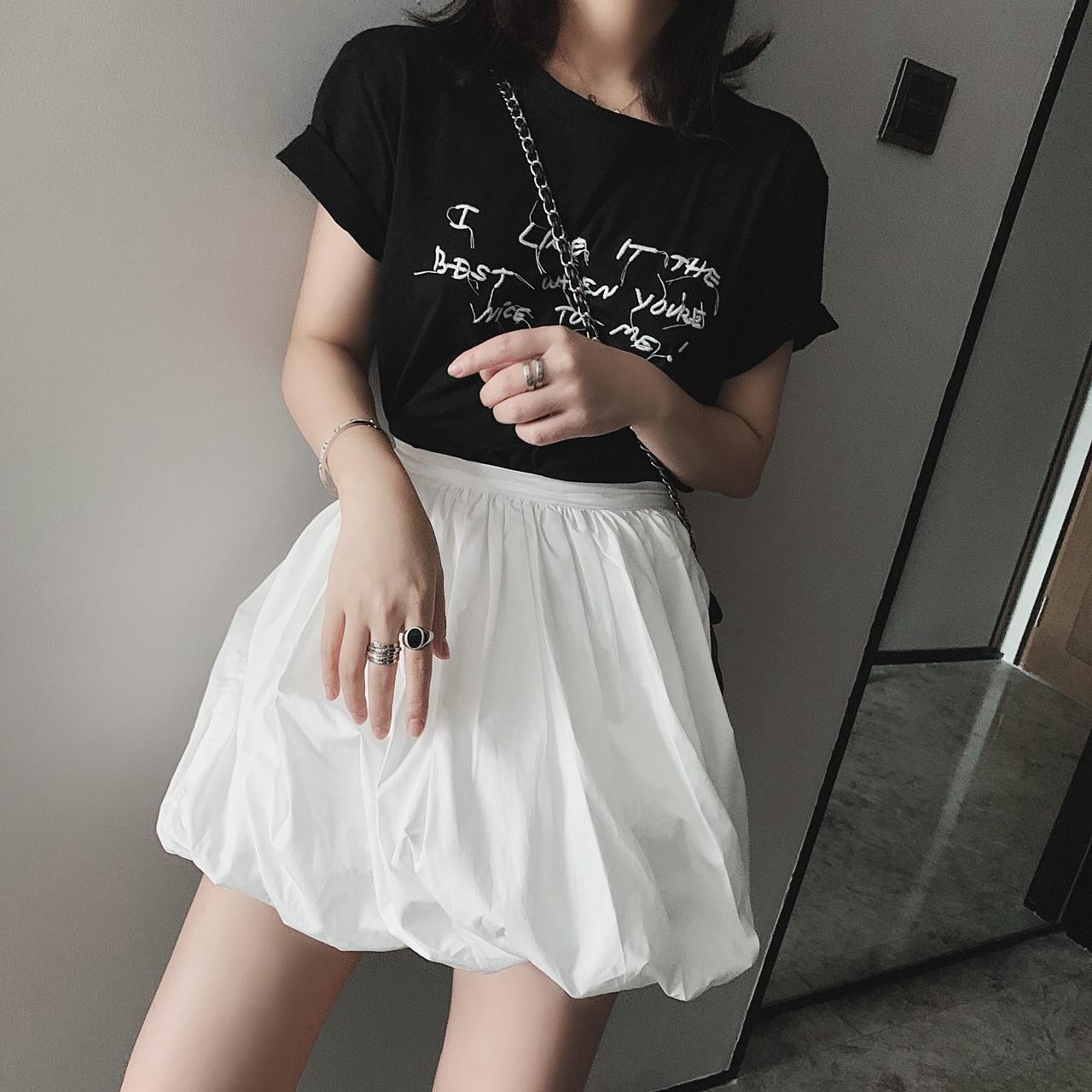 限时2件3折泡芙新款夏ins显瘦百搭chic半身裙