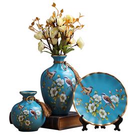 欧式陶瓷花瓶美式摆件现代客厅玄关电视柜酒柜创意家居装饰品摆设