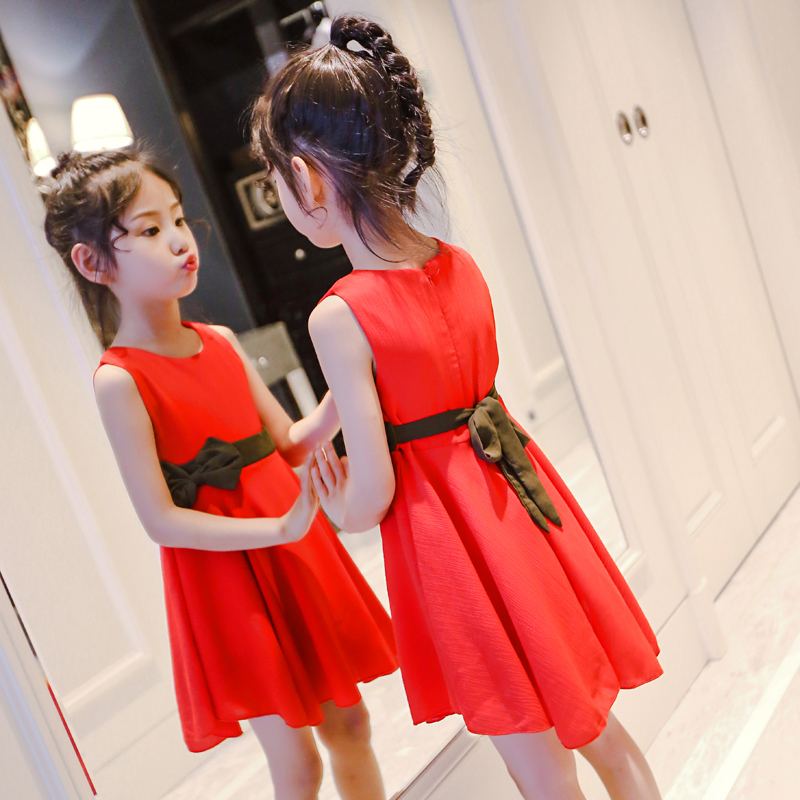 女童夏装连衣裙2018新款夏季韩版洋气公主裙儿童雪纺裙女孩裙子