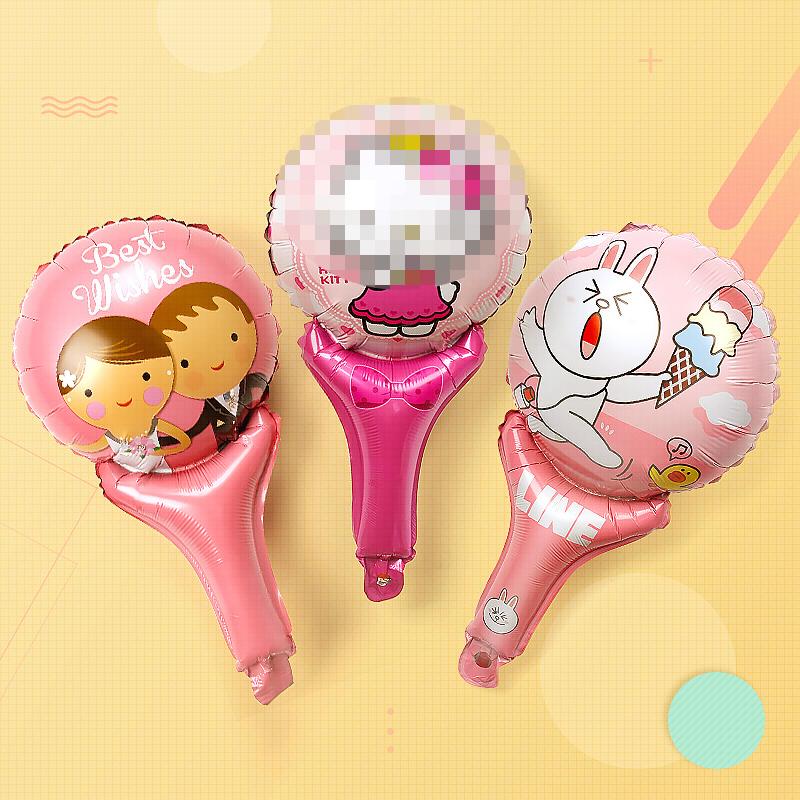 热销694件五折促销儿童派对装扮生日气球地推气球玩具气球宝宝周岁铝箔卡通手持气球