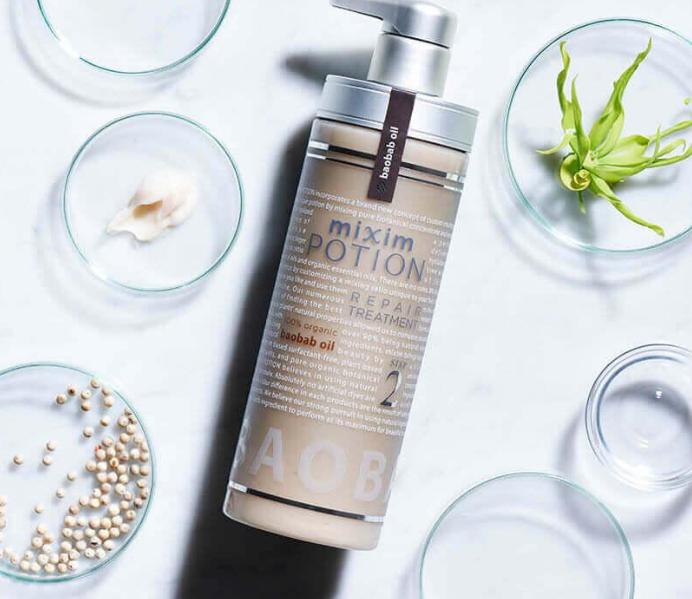 日本沙龙级mixim POTION洗发水护发素精油套装无硅油头发修复