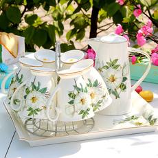 陶瓷杯子水杯套装轻奢马克杯水具骨瓷冷水壶喝水茶壶家用欧式客厅