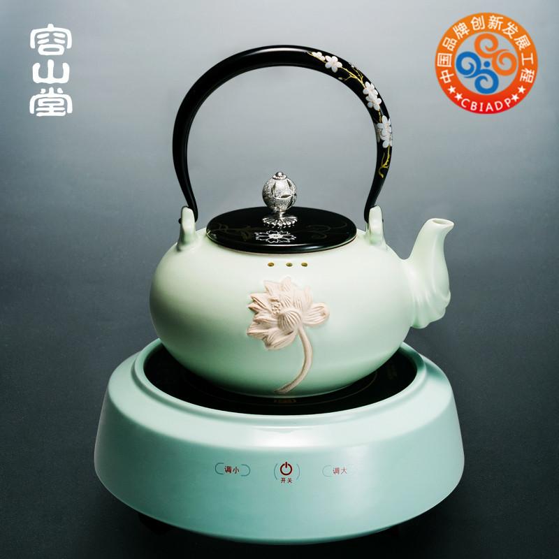 容山堂电器电陶炉茶炉蒸煮茶器陶瓷触控静音烧水壶家用大功率日式