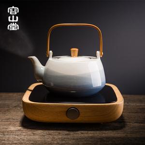 容山堂惜时三界电陶炉煮茶器茶炉茶壶陶瓷大小烧水壶家用功夫茶具