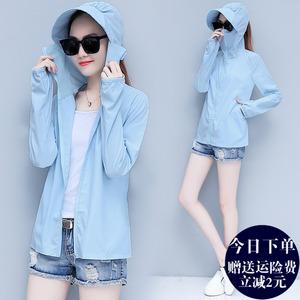 夏季短款防晒衣女2020新款韩版防紫外线骑车透气防晒服百搭薄外套