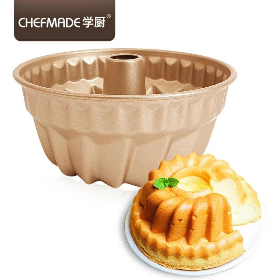 chefmade學廚 4寸/7寸不粘咕咕霍夫模菠蘿型薩瓦林凸柱蛋糕模具