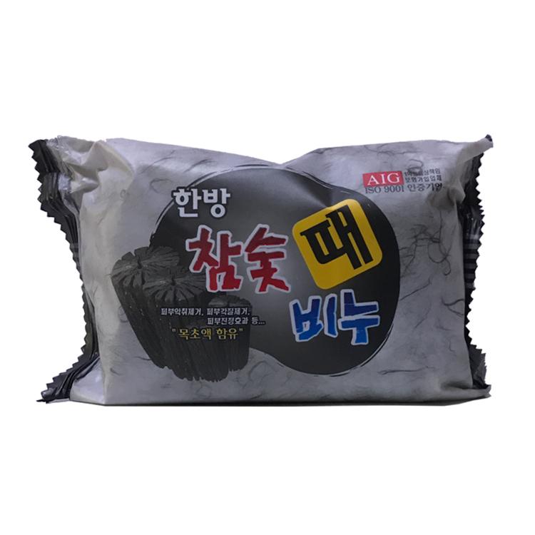 韩国香皂正品韩方木炭竹炭韩方去灰皂 去油去汗去角质 洗澡皂200g
