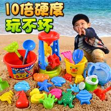 儿童沙滩玩具车套装挖沙铲子桶工具