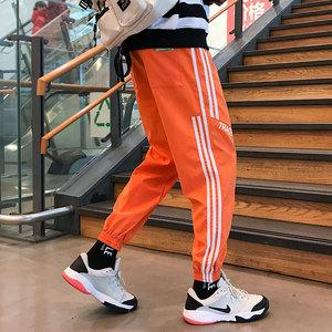 运动裤男条纹字母束脚裤 休闲裤宽松 K117-P30,男装休闲裤,星座207