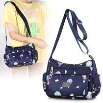 包包休闲新款帆布包女士单肩斜跨包时尚尼龙牛津布中年妈妈挎包