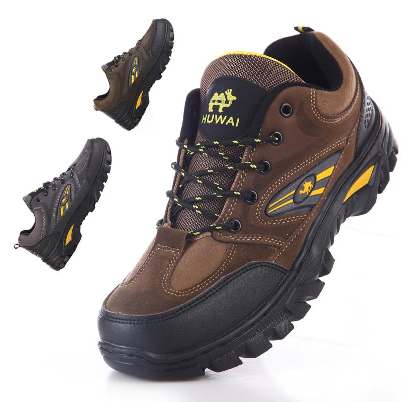 Пешие прогулки обувь Мужская водонепроницаемый не скольжению работы обувь Открытый обувь кроссовки и досуг Туфли замшевые кроссовки весны