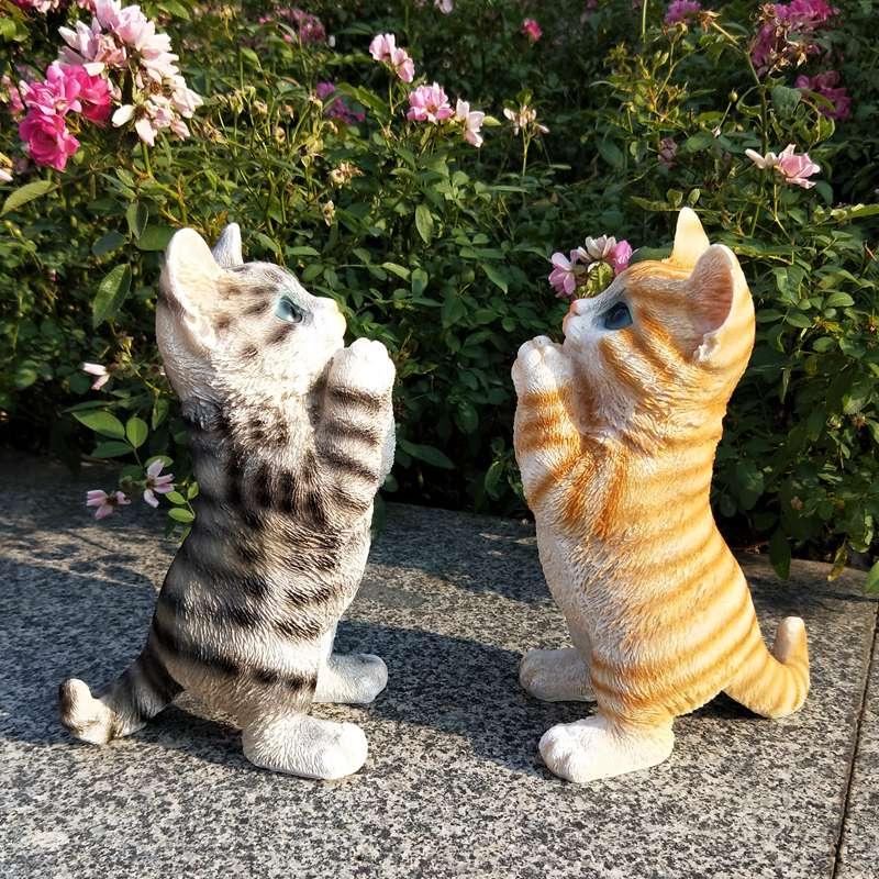 仿真猫咪摆件可爱小猫客厅卧室猫女