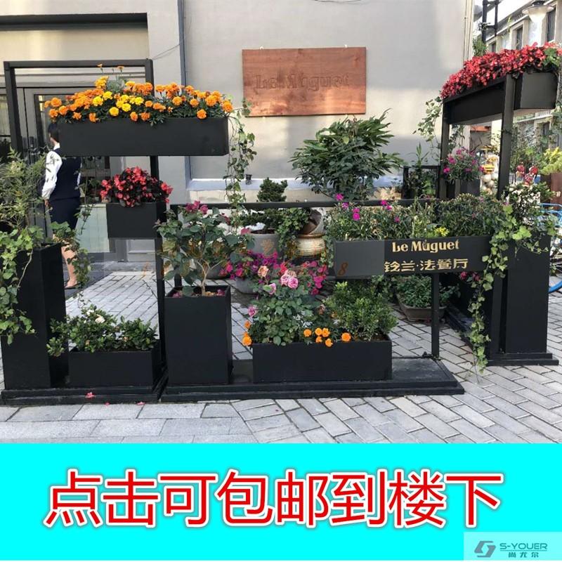 Открытая цветочная клумба прямоугольного отдела продаж садовая цветочная композиция на открытом воздухе большая железная антикоррозийная деревянная цветочная коробка