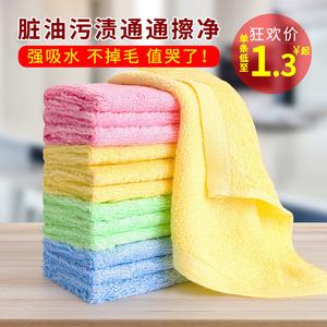 油利除洗碗巾布不沾竹木纤维厨房去油抹布用品家务清洁家用粘正品