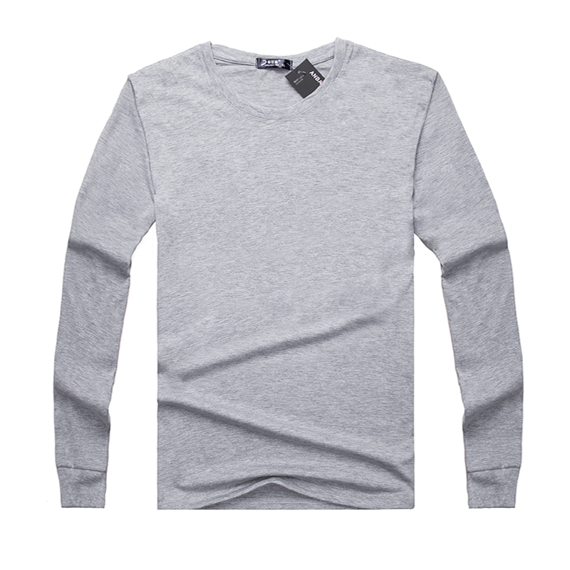 Daily special price middle aged mens long sleeve T-shirt round neck pure cotton oversize autumn clothes father middle aged and old peoples loose T-shirt