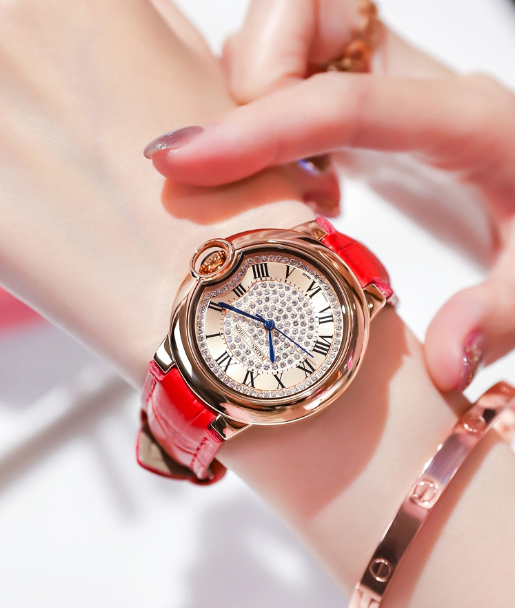 Swiss genuine womens watch new fashion Daisy ins style female student style Korean version simple boutique Watch