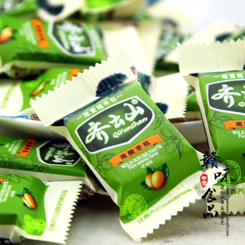 包郵江西贛州特產正品齊雲山南酸棗糕零食散裝稱重500g 酸甜零食