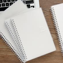 この単純なビジネス英語ドットダッシュ空白の正方形のグリッドサブノート文房具ノートブック日記の下で早期の製品/コイルロールオーバーベースオンブックB5 A5 H5