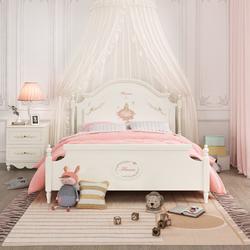 七叶木女孩儿童成套家具组合儿童床