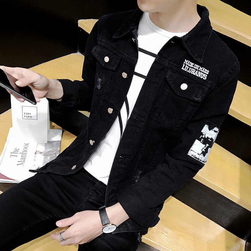 Mens 2019 spring and Autumn New Korean casual jacket, slim fitting jeans, students all-around fashion jacket