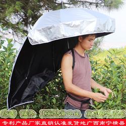 可背式雨伞采茶伞可背式遮阳伞超轻头帽伞户外防晒双层创意晴雨伞
