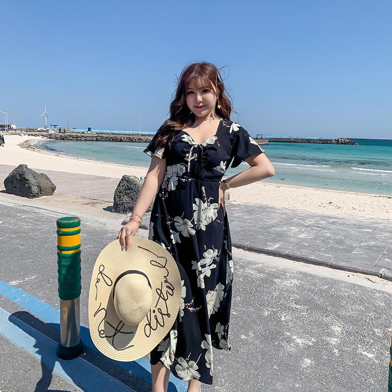 券后129.90元大码2019新款海边度假超仙沙滩裙