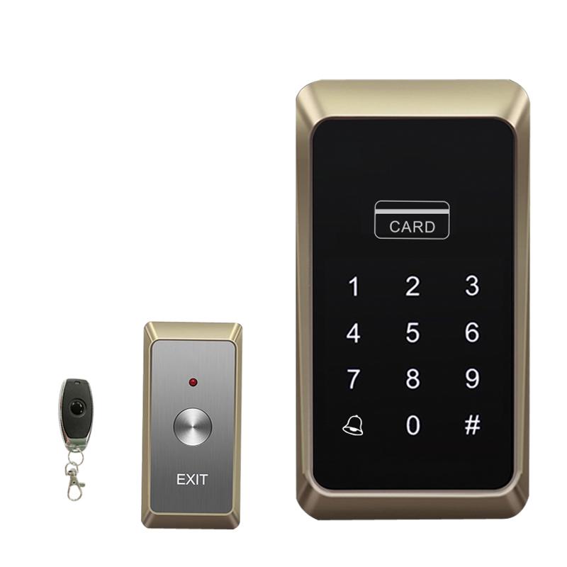 真地(Realand)M1无线门禁系统套装铁门玻璃门密码刷卡免布线一体机刷卡密码遥控开锁磁力锁电插锁
