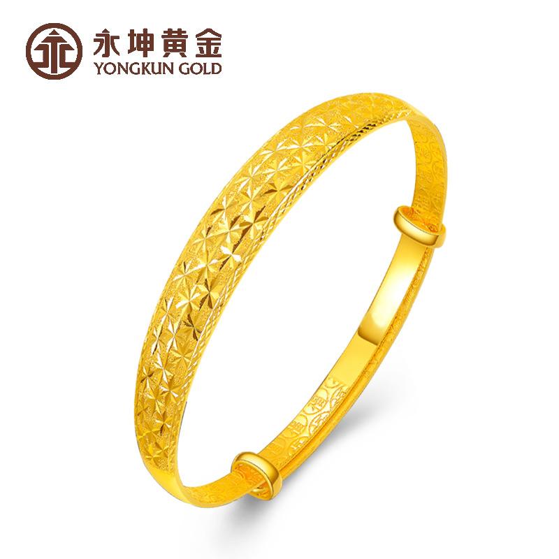 Yongkun gold bracelet gold full gold 999 push and pull all star female Bracelet solid birthday gift for mother