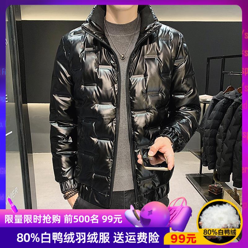 Men's down jacket tide brand winter 2020 new handsome jacket winter fashion trend light and short short plus velvet clothes