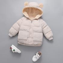 儿童内胆棉衣羽绒服洋气童装女2019新款女童冬装加绒加厚夹棉外套