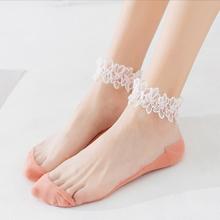 夏季薄款韩国可爱蕾丝花边袜船袜4双
