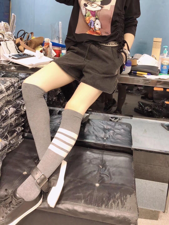 (用5元券)黑色牛仔短裤女松紧腰宽松显瘦阔腿短裤a字裤2019年秋冬新款短裤