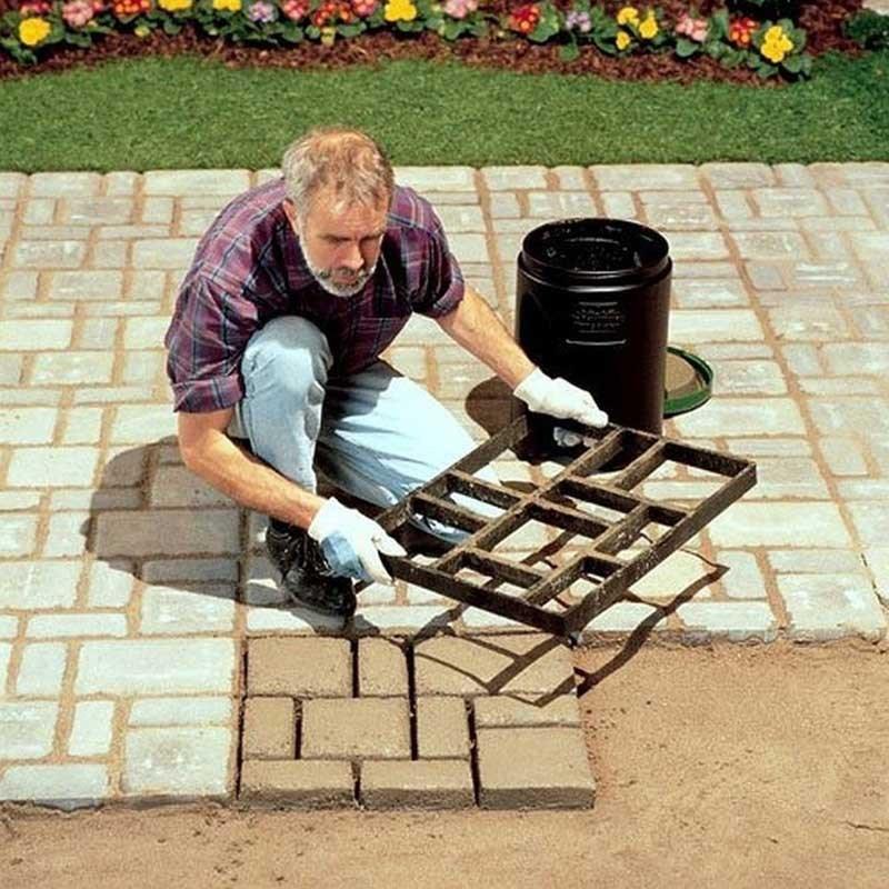 方形塑料铺路膜专用水泥地砖模具农村花园装饰路别墅设计基础建材