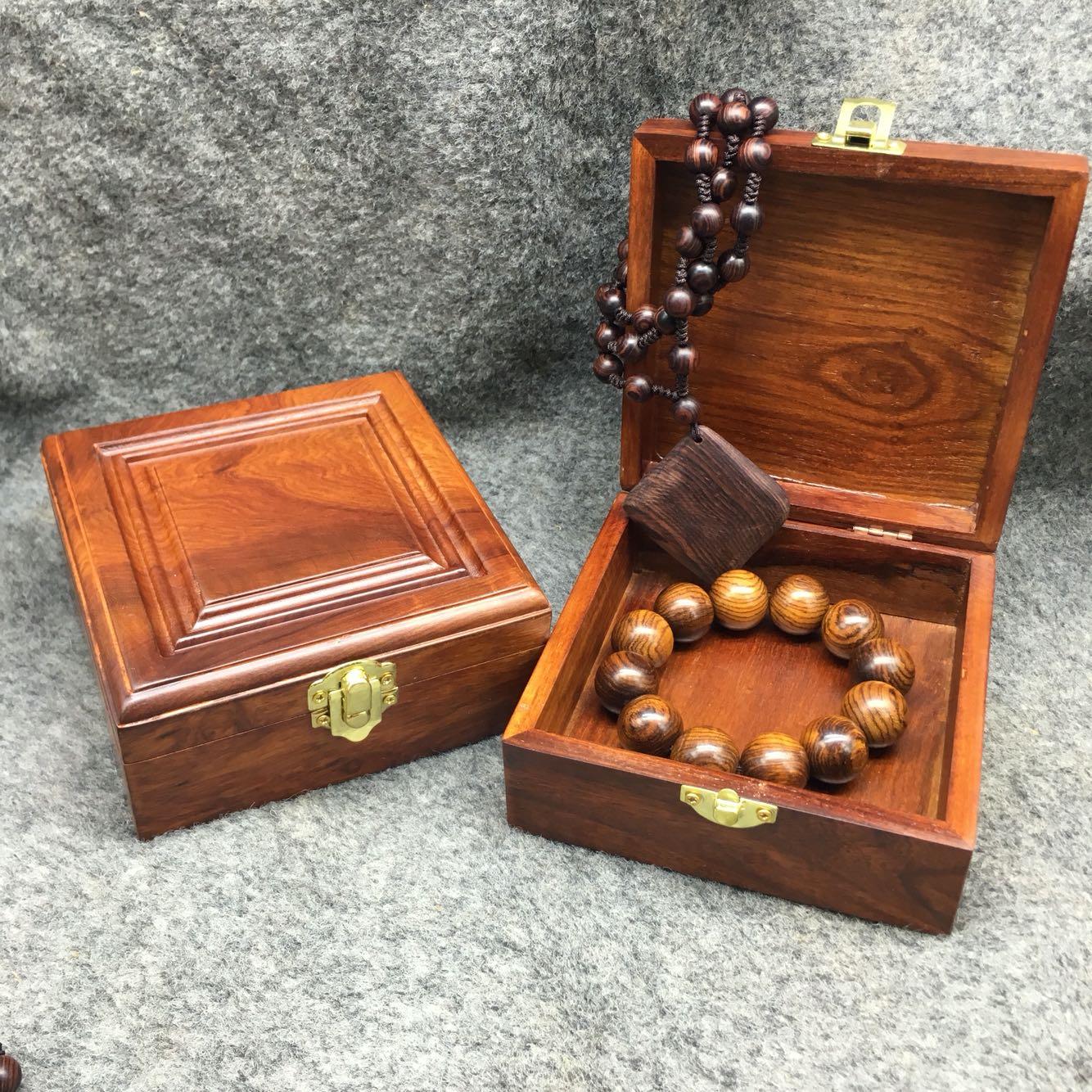 红木盒子花梨木包装盒珠宝首饰盒展示盒手镯手串实木盒子高档礼盒