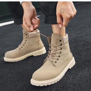 马丁靴男士短靴英伦复古2018新款秋季高帮鞋工装靴户外沙漠潮靴子