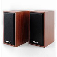 技拓 JT2801 USB电脑桌面小音箱 木质音响 游戏家用迷你便携 家用