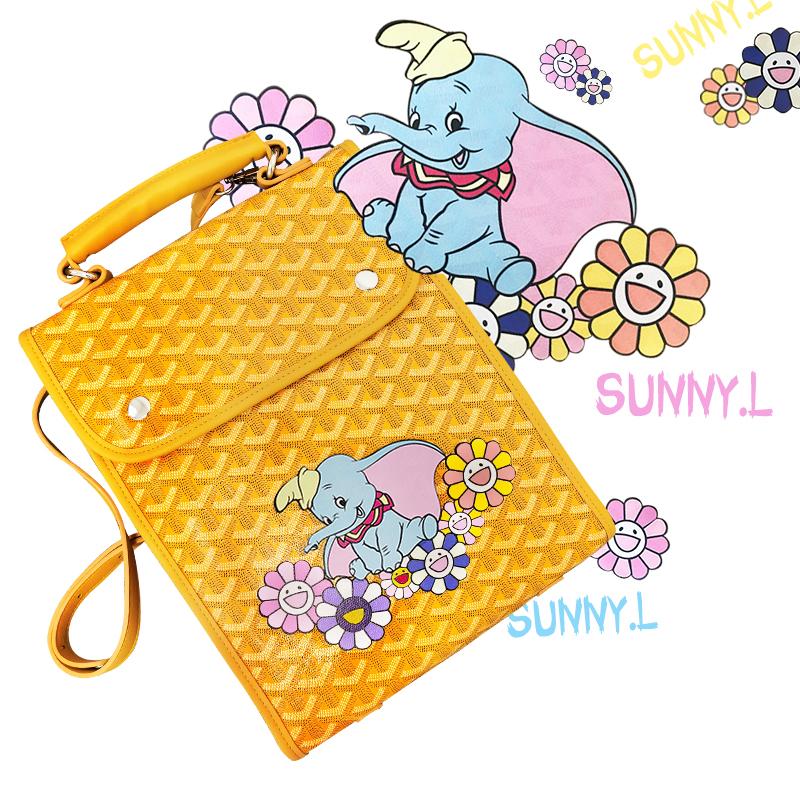 Backpack women 2020 new Korean graffiti dogtooth bag little elephant cute backpack chaopai Student Campus