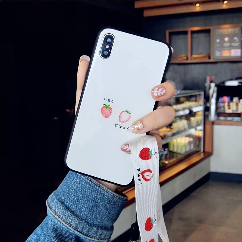 草莓华为P20pro手机壳荣耀v8/9/p10p玻璃nova2splus/nova3e保护套